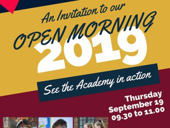 Image related to Open Morning Thursday 19th September 9.30am – 11am